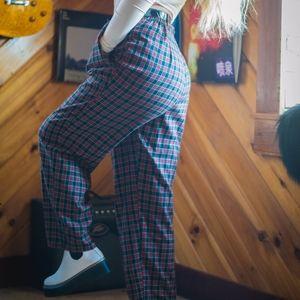 Vintage grunge plaid pants